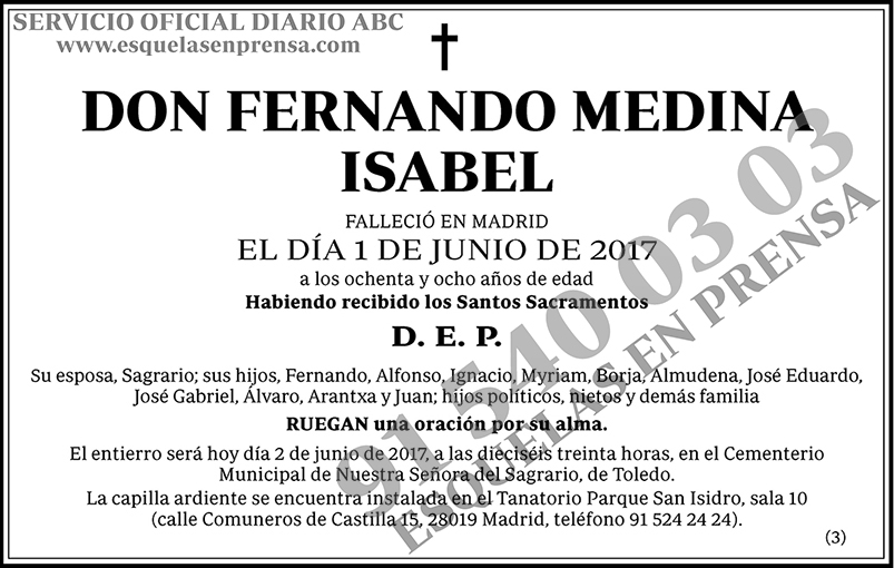 Fernando Medina Isabel